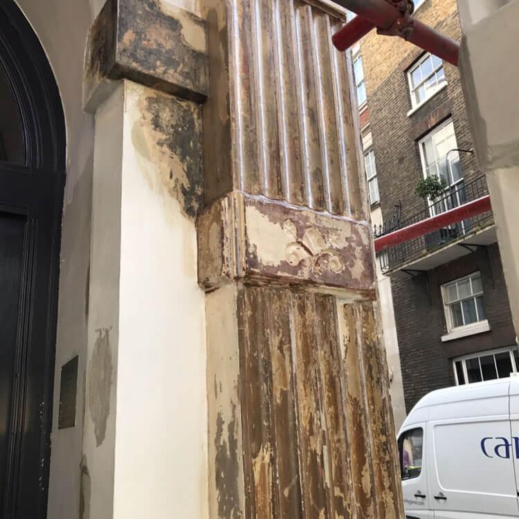 Exterior Pillar Before